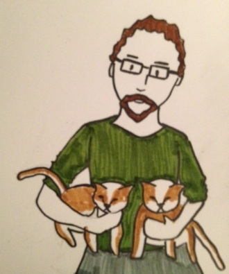 Man and Cats